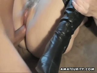 Hot amateur Milf sucks and fucks with cumshot