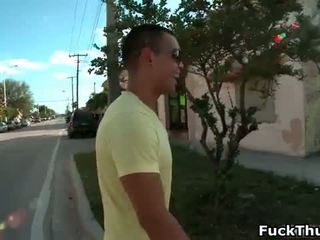 Sexy ebony guy gives amazing oral sex