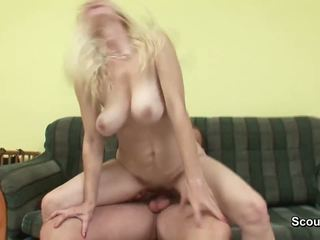 Mom get caught by german step-son and fucked her hairy hole