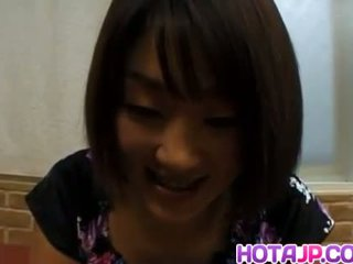 Miyuki hashida sucks dong och gets cum