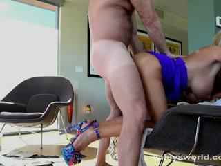 Busty MILF Neighbor Swallows My Cum