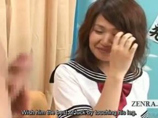 Subtitled CFNM Japanese Schoolgirl Uniform Amateur