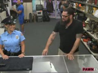 Security Officer Banged In The Backroom To Earn More Cash