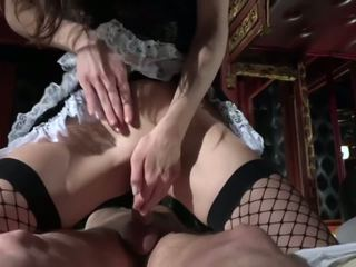 Step dad caught fucking the young maid