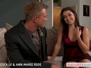 Hot Francesca Le and Ann Marie Rios fuck in threesome