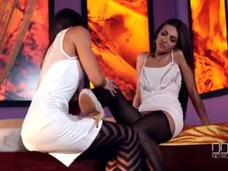 Alexis Brill and Lorena in Hot Euro Lesbian Fetish Encounter