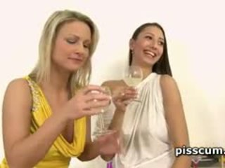 Piss hoes samantha jolie and kitty jane share jago