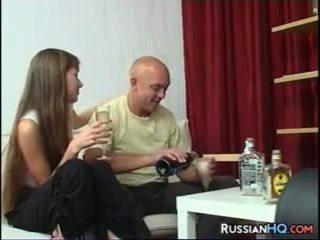 brunette, lick, russian