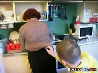 フェラチオ, 赤毛, 成熟した, ロシア