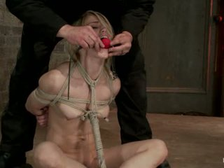 Hot Blond S Nipples Are Abuse Feet Tickled Pussy Fucked With A Stick Made To Cum Like A Whore1