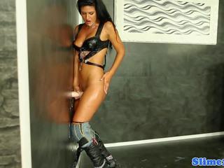 Cum Covered Euro Riding Gloryhole Dick, Porn 02
