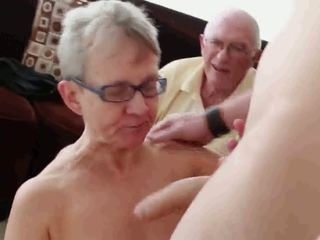 70 Couple Invites Young Man for a 3some R20: Free Porn 01