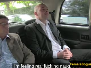 Female Cabbie Spitroasted in Her Taxi, HD Porn dd