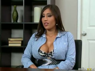 Having Funtime Close To Alexis Breeze's Perky Perks In The Office