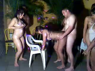 Party orgy gangbang