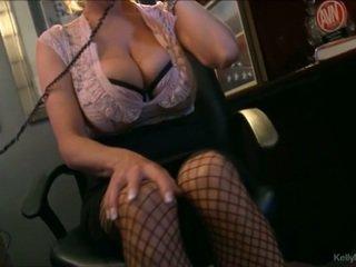 Barmfager kelly madison has hot telefon sex i henne kontor