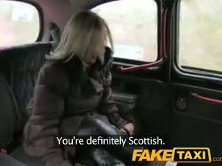FakeTaxi Scottish blonde with a big as...