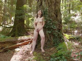 Sweet Raven Masturbating Outdoors, Free Porn 4b
