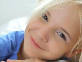 18yo blondie teasing dhe pose
