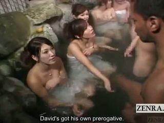 Subtitle נקבה בלבוש וגברים עירומים ביחד בחוץ יפן bathhouse masturbation משחק מקדים