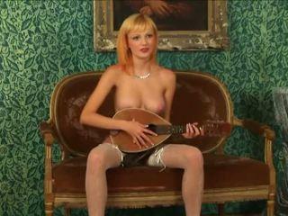 Blonde virgin strips
