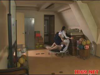 Japonské av kočka v bandážovanie furniture