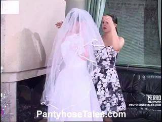 pengantin, video, seks lesbian