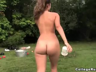 outdoor, college girls, coed oral sex
