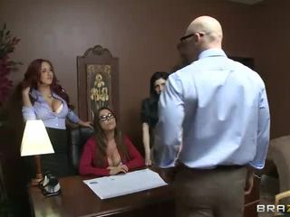 Big Tit Office Trio Sativa Rose, Kianna Dior And Kelly Divine