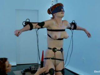 Electrical Torture For Blindfolded Audrey Hollander In Babe Domination Roped Vid