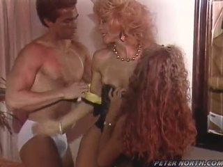 Peter North Shafts Nina Hartley And Sunny Mckay After They Blast A Whistle His Penis