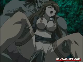 Hentai Girl Caught By Tentacles And Hard Fucked Monster Cock