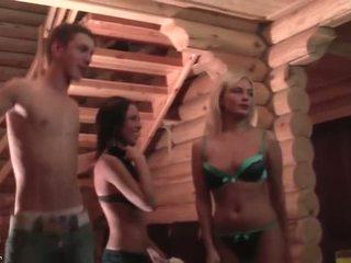 Strip provocação e lap dance em o festa vídeo