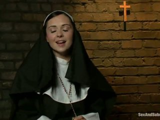 Erotic Nun Has Tied Up And Bumped Rough By Two Persons