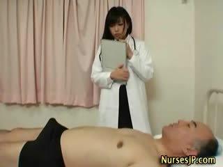 japonês, exótico, enfermeiras