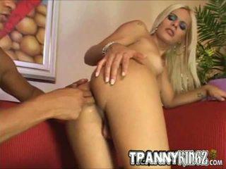 Blonde Stunner Thais Hot Tranny Sex