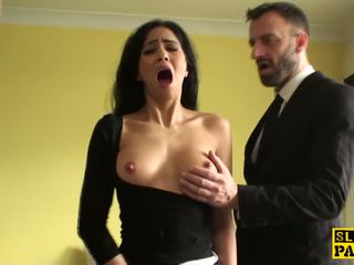 Squirting Brit Submissive is Cumswallowing: Free HD Porn 10