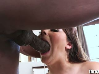 όλα μελαχροινή ιδανικό, στοματικό σεξ περισσότερο, περισσότερο deepthroat Καυτά