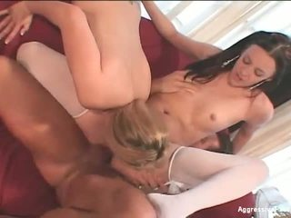 2 girls and a 9 inch cock