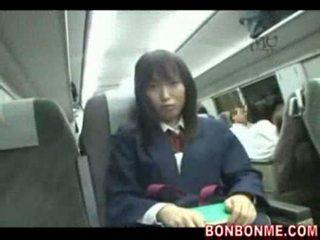 japanese, fingering, schoolgirl