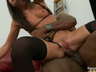 Giselle enjoys some interracial fucking