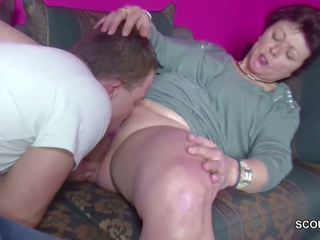 German Young Boy Caught Step-mom Masturbate and get a