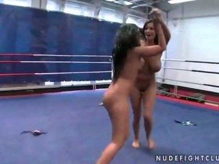 brunette, lesbian, lesbian fight