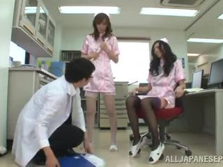 Point Of View 3 Some Together Around Two Graceful Chinese Nurses