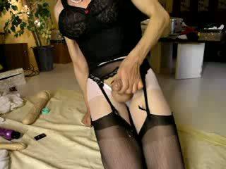 Cumming sobre negra meias longas