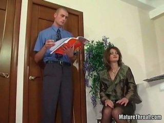 blowjob, office sex, milf sex