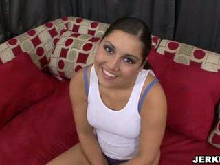 מתוק sexually excited emma cummings הצגה את שלה sporty curves