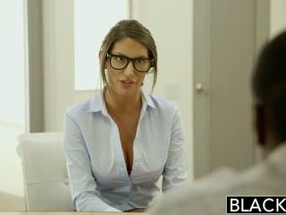 Blacked august ames gets an между различни раси крем пай