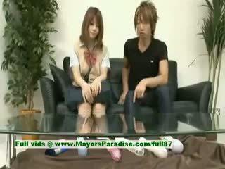 Risa tsukino innocent asiatisch mädchen ist ein süß schulmädchen