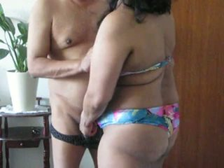 Indian Milf Aunty Plays With Her Fat Tits